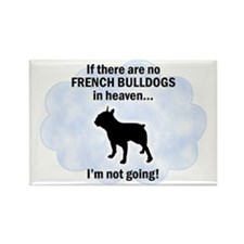 French Bulldogs In Heaven Rectangle Magnet