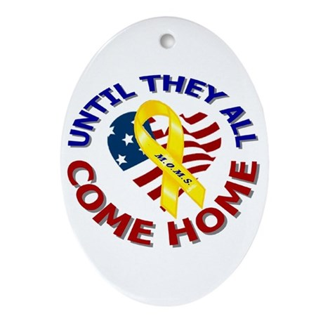 Until They All Come Home Oval Ornament
