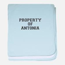Property of ANTONIA baby blanket