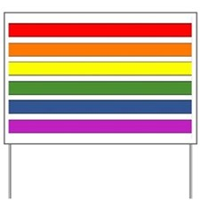 SEPARATED RAINBOW STRIPES Yard Sign