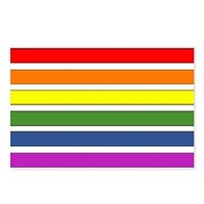 SEPARATED RAINBOW STRIPES Postcards (Package of 8)