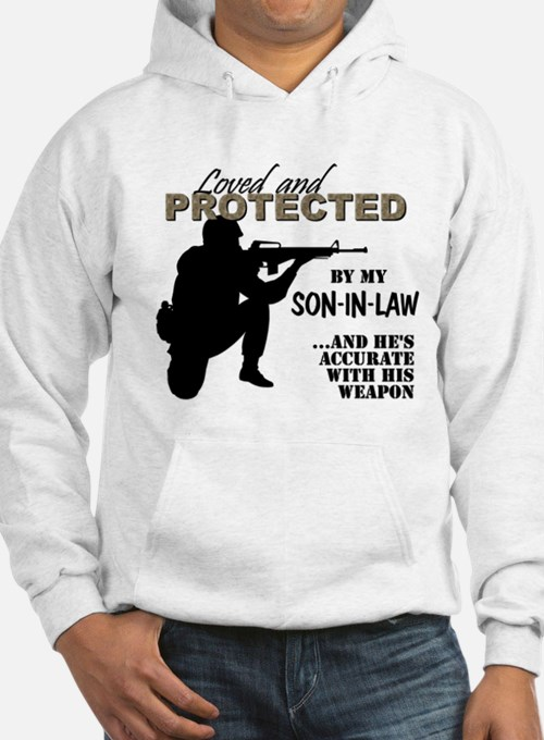 Cute Navy father law Hoodie