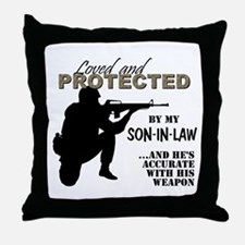 Cute Navy daughter in law Throw Pillow