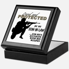 Cute Military father in law Keepsake Box