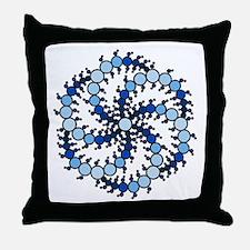 Milk Hill Blue Crop Circles Throw Pillow