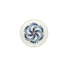 Milk Hill Blue Crop Circles Mini Button