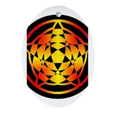 Crop Circle Star Gradient Oval Ornament