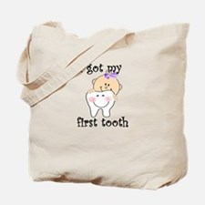 First Tooth Girl Tote Bag