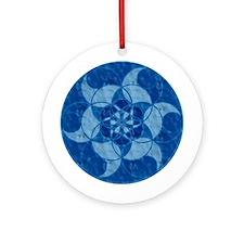 Flower Water Crop Circle Ornament (Round)