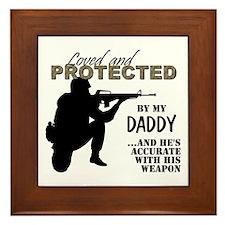 Funny Marine dad Framed Tile