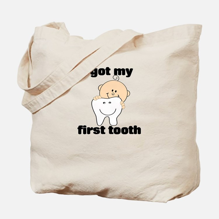 First Tooth Boy Tote Bag