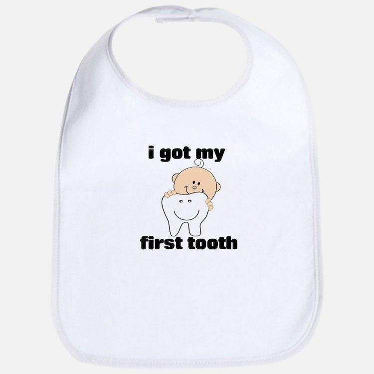 First Tooth Boy Bib