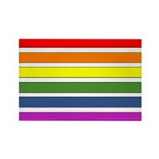 SEPARATED RAINBOW STRIPES Rectangle Magnet