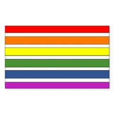 SEPARATED RAINBOW STRIPES Rectangle Decal