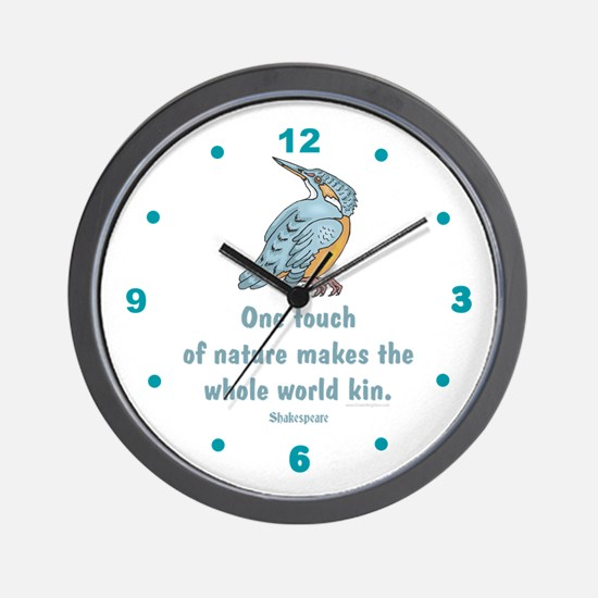 Shakespear Nature & Peace Quo Wall Clock