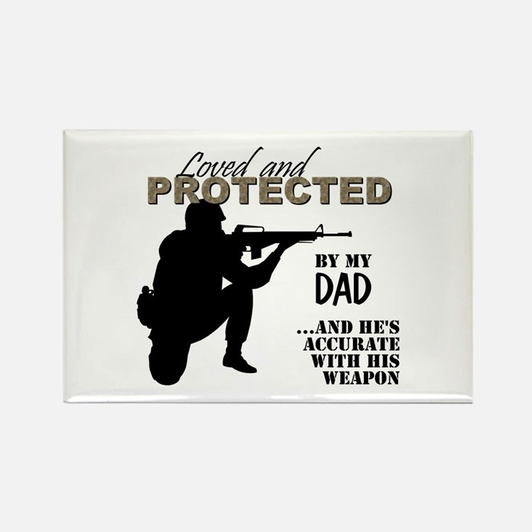 Cute Marine step dad Rectangle Magnet