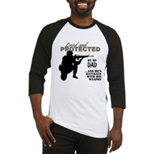 Loved  Protected Dad Baseball Jersey