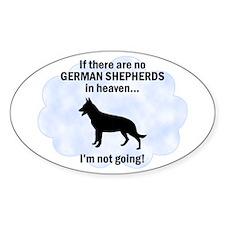 German Shepherds In Heaven Oval Decal