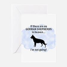 German Shepherds In Heaven Greeting Cards (Pk of 1