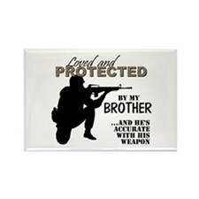 Loved Protected Brother Magnets