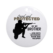 Cute Marine brother Ornament (Round)