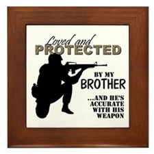 Cute Step brothers Framed Tile