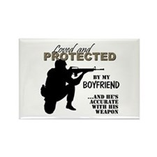 Loved  Protected Boyfriend Magnets