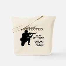 Cute Army boyfriend Tote Bag