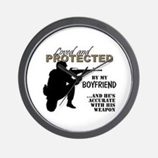Cute Navy boyfriend Wall Clock