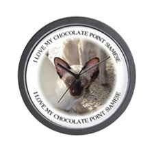 chocolate point Siamese Wall Clock