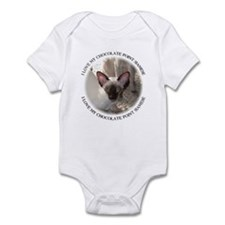 chocolate point Siamese Infant Bodysuit