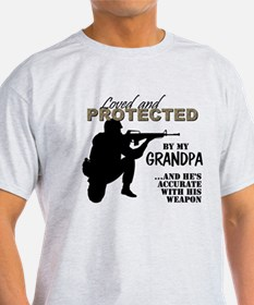 Loved  Protected Grandpa T-Shirt