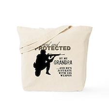 Cute Military grandpa Tote Bag