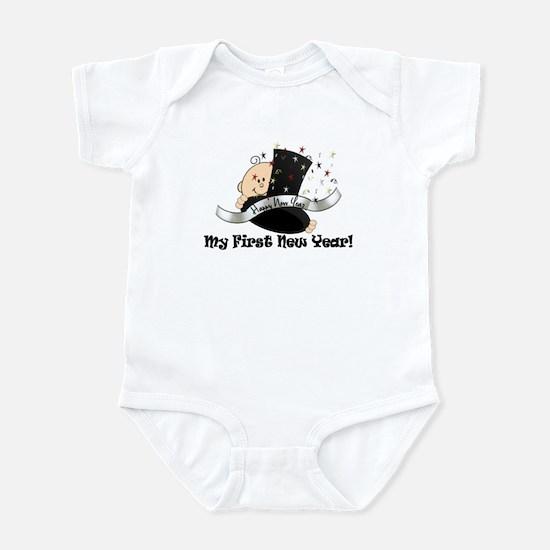 Top Hat New Year Infant Bodysuit