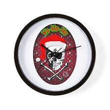 Pirate Christmas Wall Clock