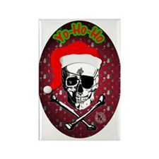 Pirate Christmas Rectangle Magnet (10 pack)