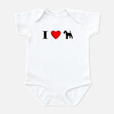 I Heart Wirehaired Fox Terrier Baby Bodysuit