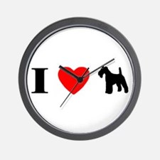 I Heart Wirehaired Fox Terrier Wall Clock