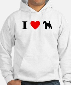 I Heart Wirehaired Fox Terrier Hoodie