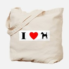 I Heart Smooth Fox Terrier Tote Bag