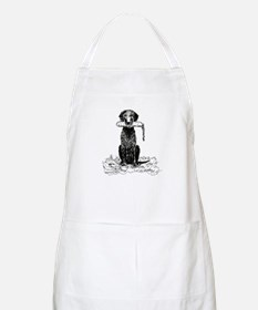 Curly-Coated Retriever with Bumper BBQ Apron