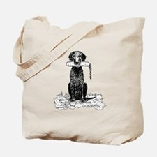 Curly-Coated Retriever with Bumper Tote Bag