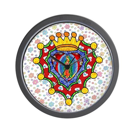 Guadalupe Crown Milagro Wall Clock