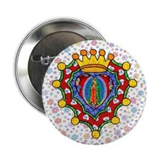 "Guadalupe Crown Milagro 2.25"" Button"