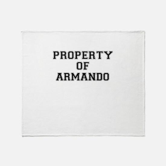 Property of ARMANDO Throw Blanket