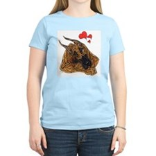 Brindle Great Dane Motherlo Women's Pink T-Shirt