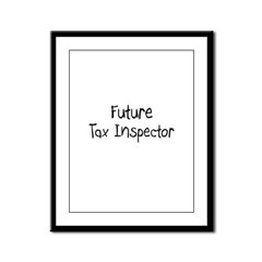 Future Tax Inspector Framed Panel Print