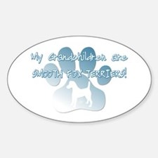 Smooth Fox Terrier Grandchildren Oval Decal