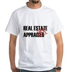 Off Duty Real Estate Appraise White T-Shirt