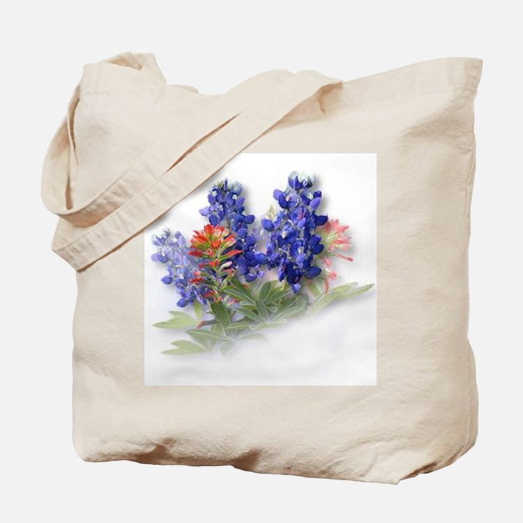 Bluebonnets with Indian Paint Tote Bag
